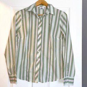 Lacoste Button-up shirt striped green sz 12